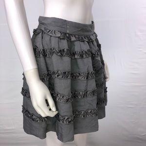 XXI Twist Medium Gray Ruffle A Line Skirt